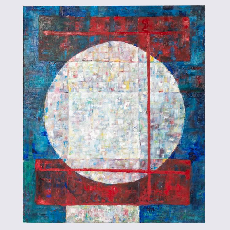 Jan F. van Beelen, 'Abstracte compositie', 2004, olieverf op doek.